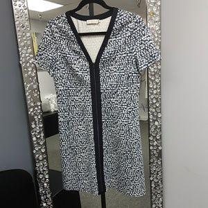 Tori Burch Geometric  navy print dress